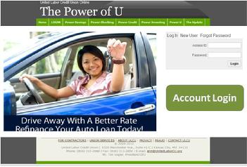 Click the link above to log into your United Labor Credit Union Online Account